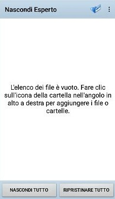 Come nascondere cartelle o file